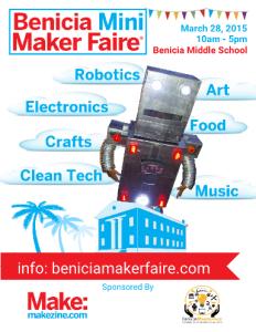 Benicia Mini Maker Faire 2105 Poster