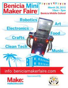 Benicia Mini Maker Faire 2105 Poster