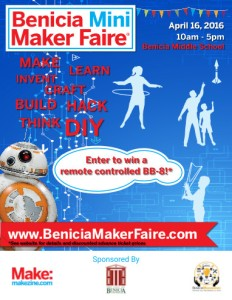 Benicia Mini Maker Faire 2106 Poster thumbnail